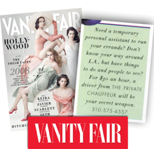 Vanity Fair | The Private Chauffeur
