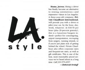 LA Style   Los Angeles Style